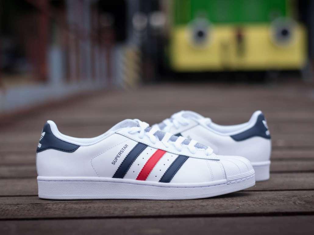 Superstar Foundation NavyRed Adidas 8UK White wX8OP0kn